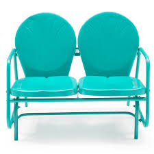 Gliding Chairs Coral Coast Vintage Retro Outdoor Glider Loveseat Hayneedle