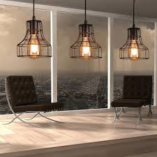 Retro Hanging Light Fixtures Loft Retro Hanging L Industrial Minimalist Iron Pendant Light