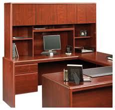 Cherry Computer Desk Hutch Sauder Cornerstone Hutch For 404379 404380 Desks Classic Cherry