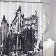 Paris Fabric Shower Curtain by Paris Shower Curtain At Linen Chest