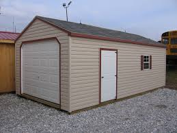 car garages for any budget 4 outdoor 12x24 vinyl high wall barn garage