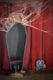 halloween scary party ideas blogger said close up of our coffin photo booth with red velvet