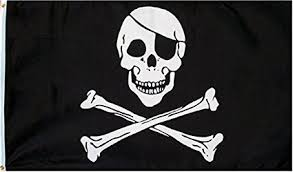 amazon com pirate skull and crossbones flag 3 by 5