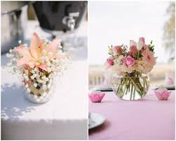 baby shower centerpieces for girl ideas baby shower flower ideas blown clear glass vase with beautiful