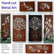 wall art design ideas australian steel metal garden wall art