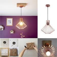 suspension origami diy trou trop large au plafond fabriquer un cache fil en bois salons