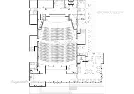 concert hall dwg free cad blocks download