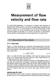 11 measurement of flow velocity and flow rate