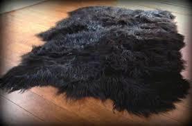 black faux fur rug cievi u2013 home