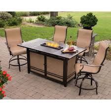 high top patio table and chairs awesome high top fire pit table monaco 5 piece dining bar set with