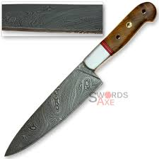 jumbo chefs cooking kempo damascus steel forged knife apricot