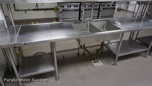 stainless steel prep table with sink stainless steel prep table with sink item ds9408 sold n