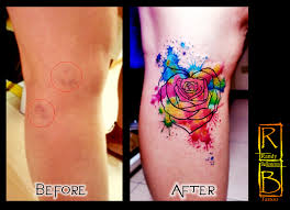 varicose vein cover up watercolor tattoo tattoo works