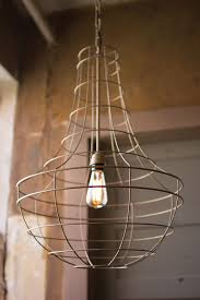 antique wire cage pendant light in gold beaded lighting