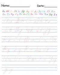 printable cursive alphabet worksheets