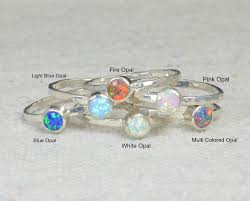 opal october small opal rings opal ring opal jewelry stacking ring october