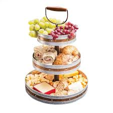 amazon com tiered trays u0026 platters home u0026 kitchen