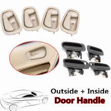 1998 Toyota Corolla Interior Door Handle 8pcs Black Outside Beige Inside Door Handle Interior Door