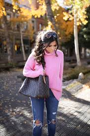 pink turtleneck messy ponytail tutorial the sweetest thing