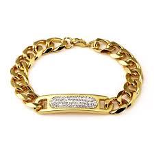 aliexpress buy nyuk new arrival men ring gold hip nyuk new arrival fashion gold bracelet with bling rhinestone