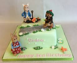 rabbit and benjamin bunny birthday cake with rabbit benjamin bunny and flopsy bunny