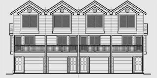 townhouse plans narrow lot quadplex plans narrow lot house plans row house plans f 556