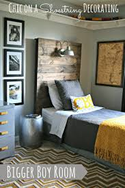 how to make a rustic headboard with a light fixture by chic on a