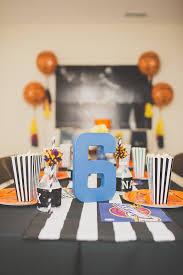 basketball party table decorations kara s party ideas basketball birthday party kara s party ideas