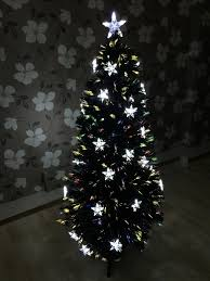 6ft black fibre optic tree rainforest islands ferry