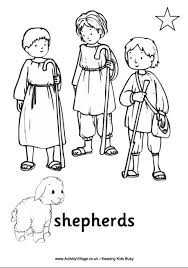jesus in the manger coloring page nativity colouring page shepherds