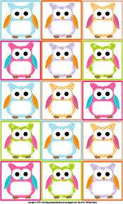 volta às aulas etiquetas personalizadas para imprimir owl