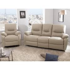 fauteuil canape ensemble canapé 3 places 2 relax manuel fauteuil releveur