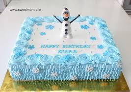 Sheet Cake Decoration Frozen Theme Designer Eggless Fresh Cream Sheet Cake With 3d Olaf