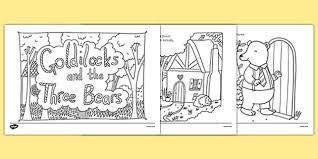 goldilocks bears mindfulness colouring story