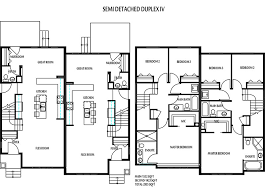 Floor Plans Alberta Edmonton Duplexes Or Semi Detached Homes Blueprints