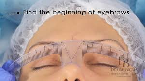 New Eyebrow Tattoo Technique Deluxe Brows Microblading Tutorial Eyebrows Measurement With