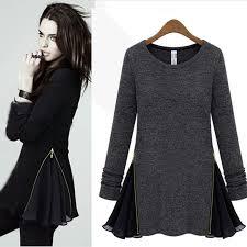 warm womens sweaters s woolen blend sweater winter warm zipper side silm mini