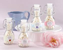 baby bottle favors mini glass favor bottle with swing top set of 12 baby