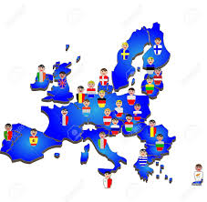 European Union Blank Map by 883 European Race Stock Vector Illustration And Royalty Free