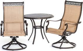 3 Piece Patio Dining Set - hanover 3 piece manor dining bistro set mandn3pcsw bs