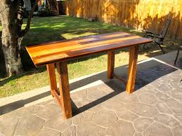 briliant reclaimed solid slab acacia wood dining table by flowbkk