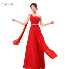 popular red bridesmaid dresses under 50 chiffon long buy cheap red