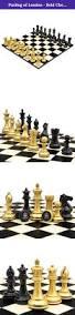 purling of london bold chess set in metallic gold u0026 shadow black