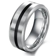 Mens Tungsten Wedding Rings by Men U0027s Tungsten Engagement Ring Wedding Band Never Fade Yoyoon 7347