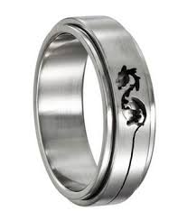 ring spinner ring in stainless steel spinner ring just men s rings