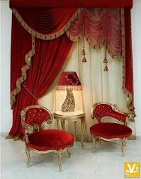 Royal Velvet Curtains Old World Romantic Parlor With Elaborate Drapery Historical