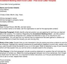 cover letter investment cover letter investment banking cover