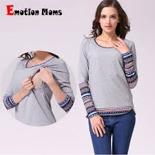 nursing clothes emotion patchwork sleeve maternity clothes winter