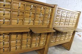vintage oak 60 drawer library card catalog cabinet ebay