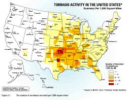 tornado map tornado alley maps and information